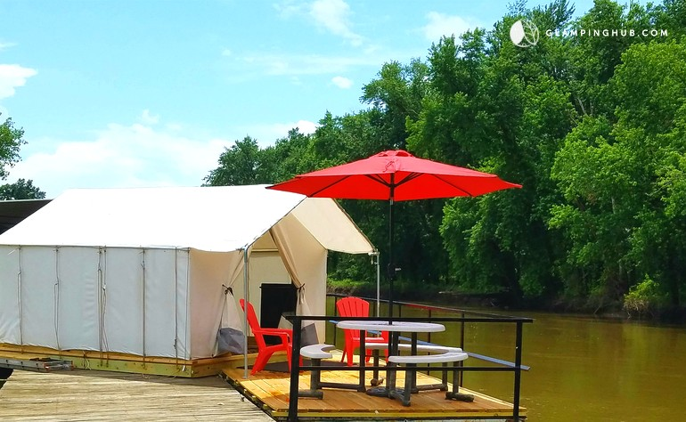 Floating Safari Tent Bed and Breakfast in Missouri