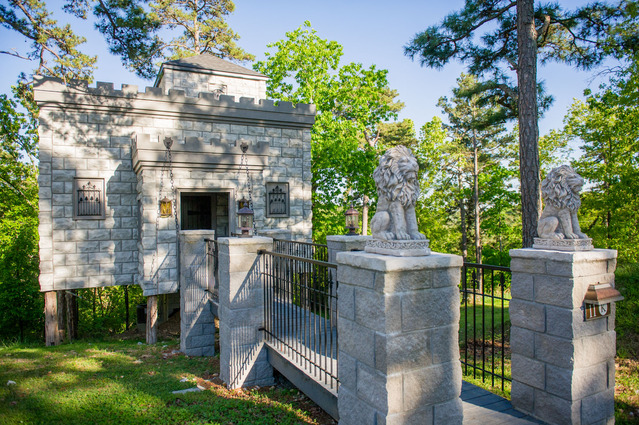 A Magical Castle Treehouse in Arkansas