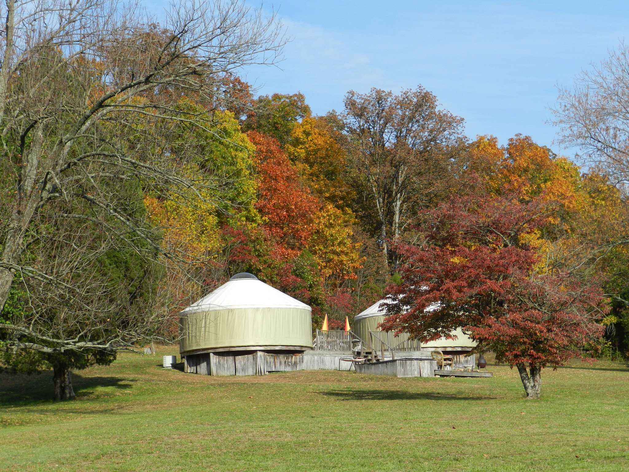 Glamping in Indiana at Mary Rose Herb Farm