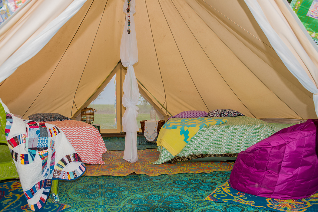 glamping in Kansas at Hoot Owl Hill