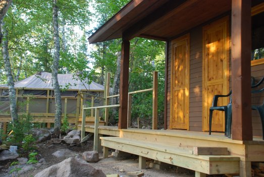 glamping in Minnesota at Riverside Island Campsites