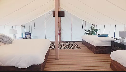 glamping in New Jersey at Holly Shores