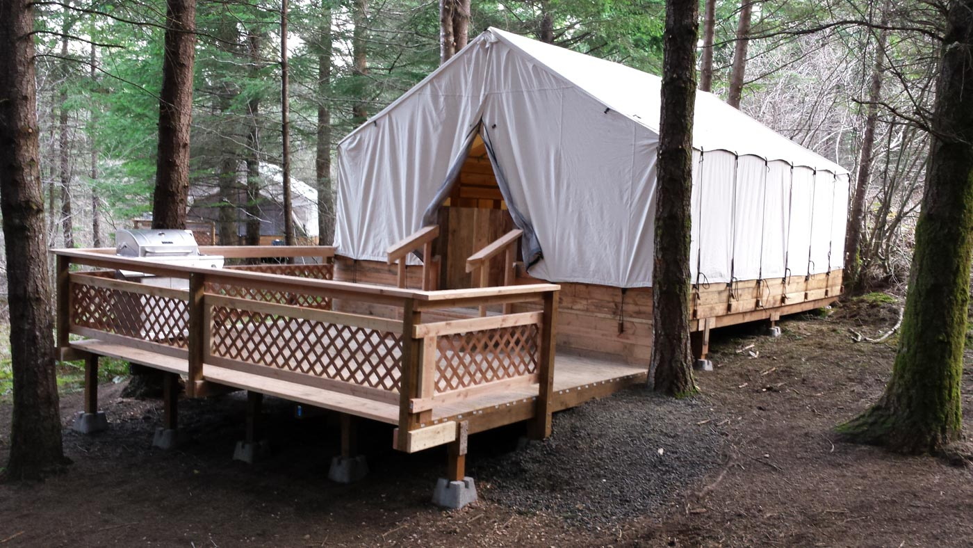 glamping in Orgeon at Camp Dakota