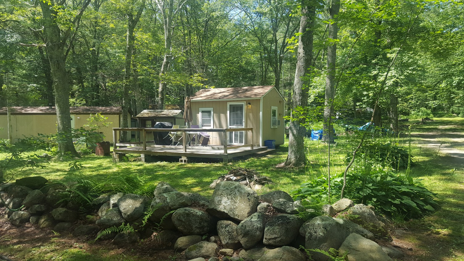 glamping in Rhode Island at Dyer Woods Campgrounds