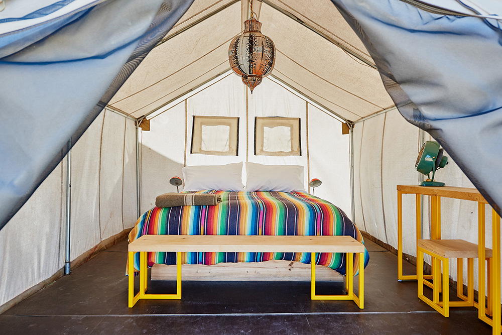 glamping in Texas at El Cosmico