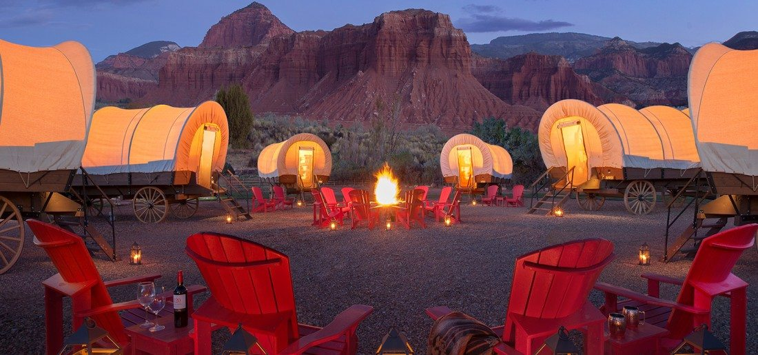 glamping in Utah at Capitol Reef Resort