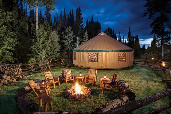 glamping in Wyoming at Brush Creek Ranch
